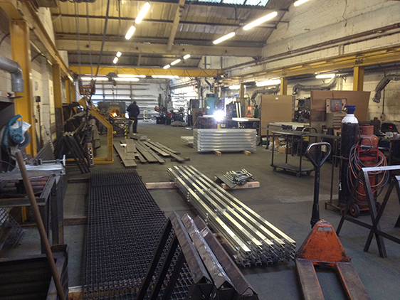 Safety Fabrications Shop Floor in Sheffield